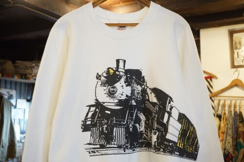 "90's Steam Locomotive printed 50/50 Sweat ""Made in U.S.A."""