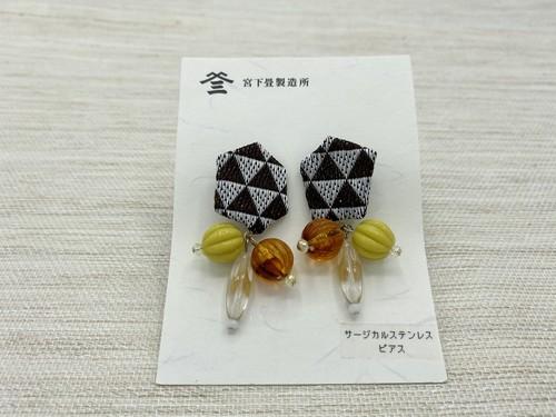 サージカルステンレスピアス(折り飾り)