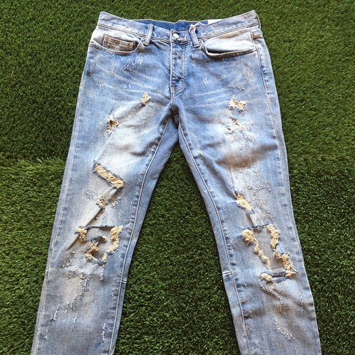 【MNML】 -ミニマル-M47 STRETCH DENIM BLUE
