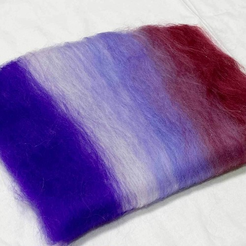 OGY13)羊毛バッツ 紫色変わり オリジナルブレンド