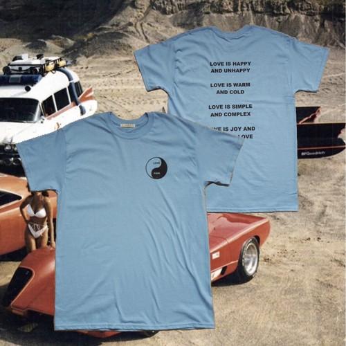 YING YANG T Shirts(SAXE BLUE)