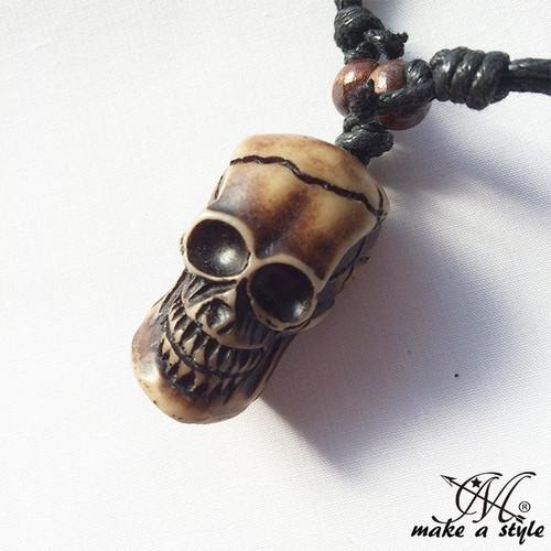 スカル ガイコツ ドクロ skull 髑髏 ネックレス チョーカー B系 ストリート系 男女兼用 メンズ レディース アクセサリー ゴージャス ユニセックス 655