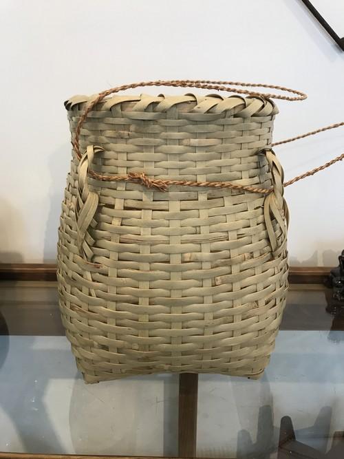 沖縄のかご ミニビク 月桃で編んだ紐付き