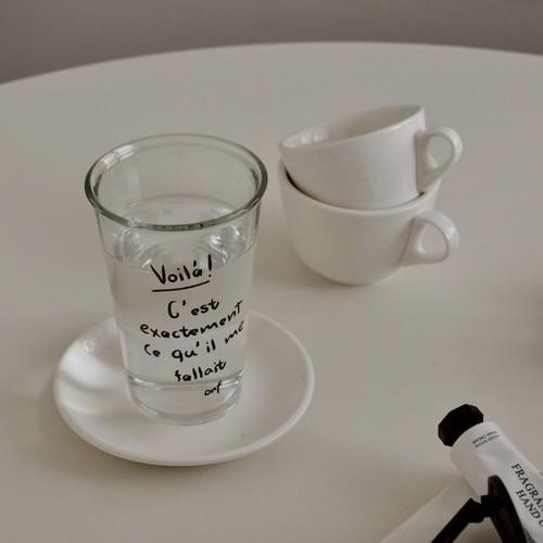 daily long glass cup type B 400ml / レタリング ロング グラス コップ 韓国 北欧 フランス