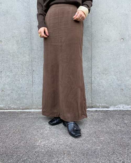 (PAL) suède long skirt