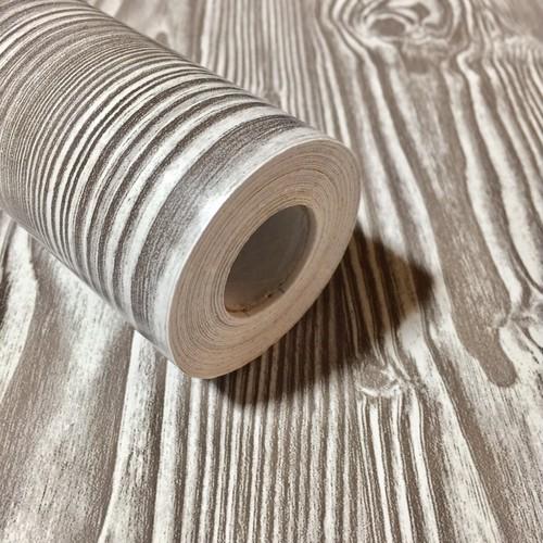 RUDOSTYLE 木目 壁紙 カッティングシート はがせる 壁紙シール 木目調 45cm×10m (アンティークグレー)