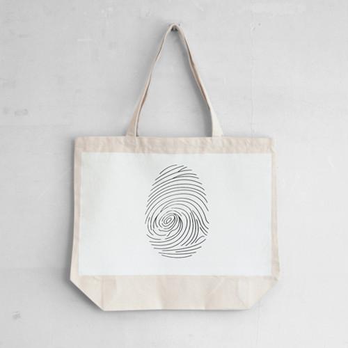 fingerprint / トートバッグ /シルクプリント