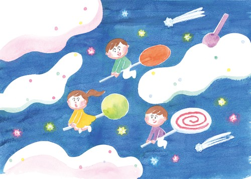 post card 「candy night」