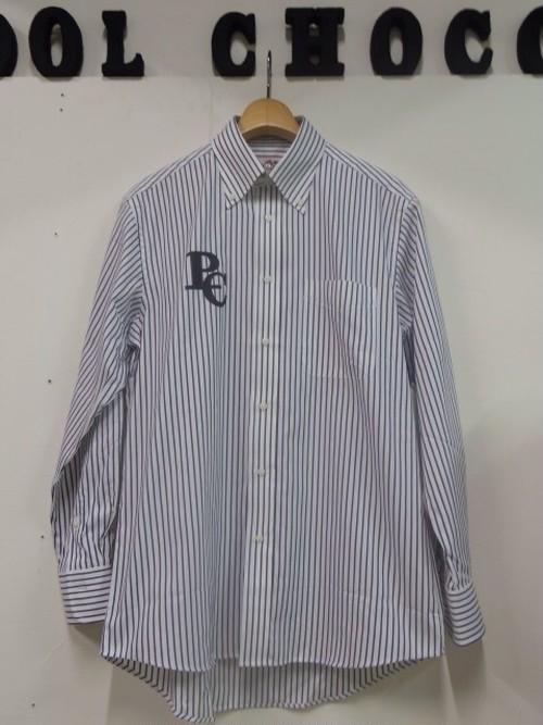 L/S ストライプシャツ ホワイト/ブラック