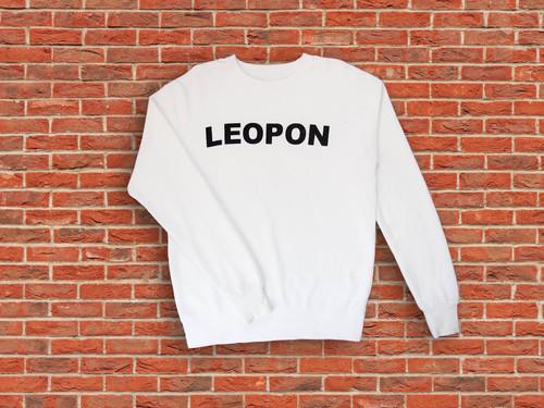 LEOPON logo sweat white