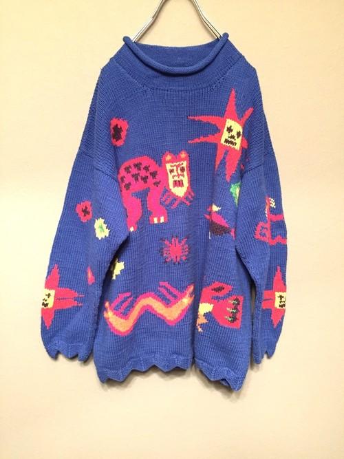 画伯 knit