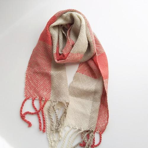 手織りベビーアルパカマフラー  255