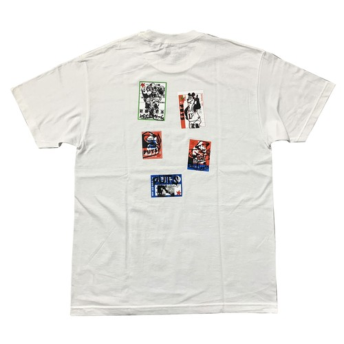 STACKS / PUTS STICKERS TEE -WHITE-
