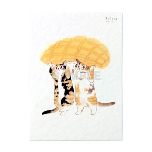 台湾ポストカード 猫 「マンゴー傘」