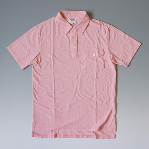 TODD SNYDER トッドスナイダー フラップポケット付き無地ポロシャツ ピンク