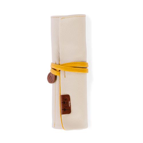 【袋果ロールペンケース / ホワイト】文房具・工具をスマートに収納♪