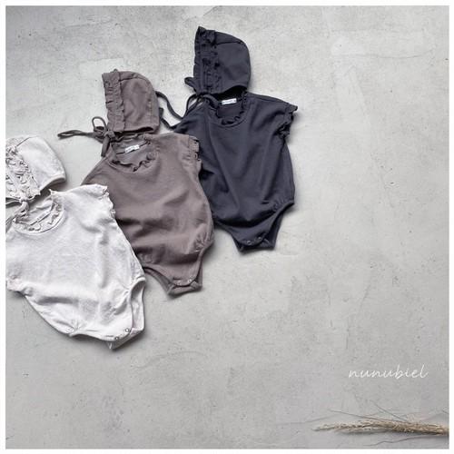 【予約販売】mellow baby-suit【baby】with bonnet〈nunubiel〉
