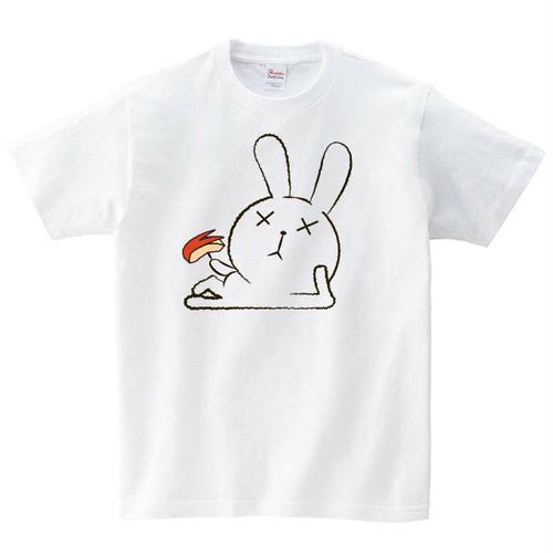 怠けるウサギ Tシャツ