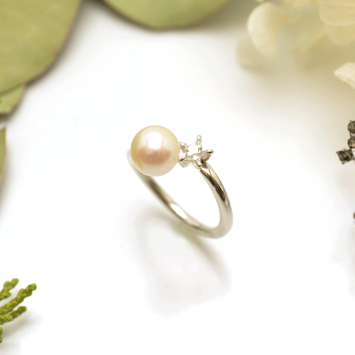 《受注制作》 #12〜#17 Star pearl ring