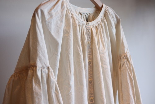 SPECIAL PRICE!!『LENO』Gathered Dress / Ivory