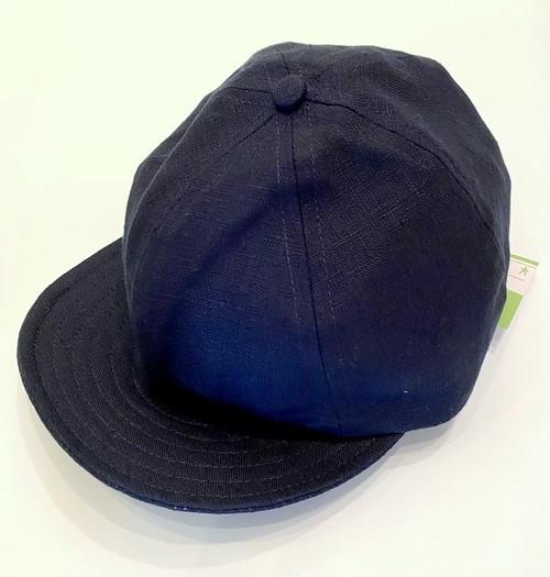 Baseball Cap Short Visor(Linen) Navy