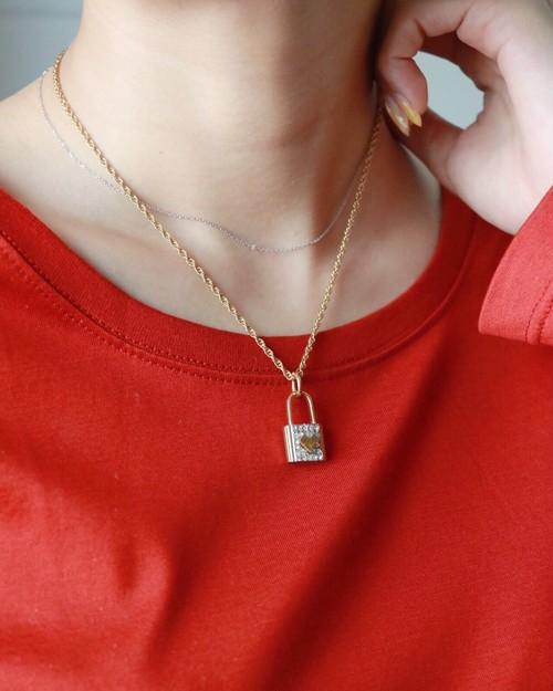Valentino padlock necklace