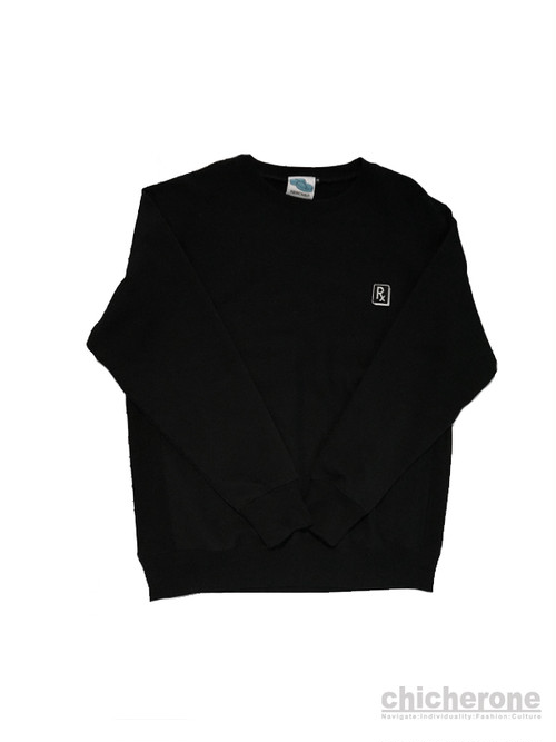 【SLEEPING TABLET】PRETEND [ CREWSWEAT ]BLACK