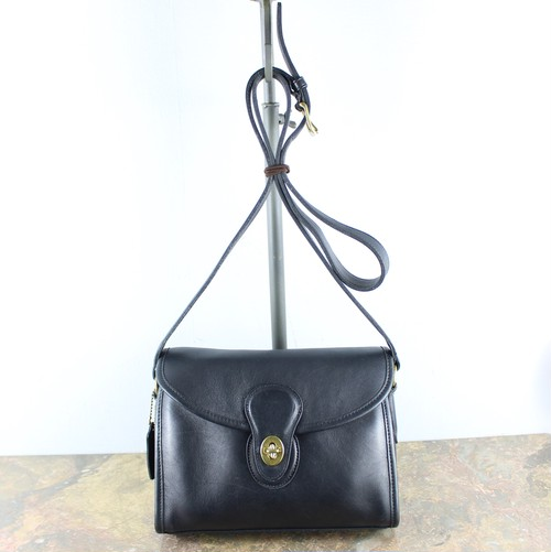 .OLD COACH TURN LOCK LEATHER SHOULDER BAG MADE IN USA/オールドコーチターンロックレザーショルダーバッグ 2000000046853