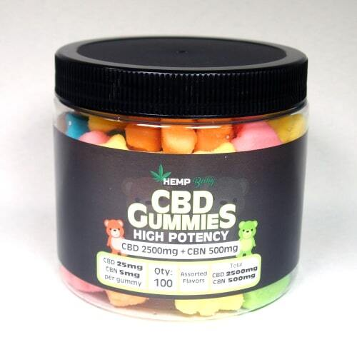 高濃度CBDグミ・HEMP BABY(CBD25mg / 粒 × 100粒、CBN5mg / 粒含有)