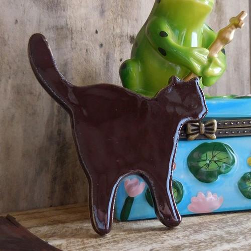 (116) マグネットアニマル ネコ 陶器製 猫 磁石 文房具 【レターパックライト可】