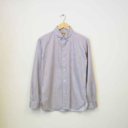 B.D. SHIRT (SEA ISLAND COTTON DOBBY STRIPE)