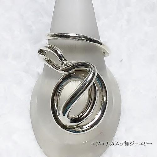 スッキリ&モダンな ダイナミックフリーサイズリング  FR42