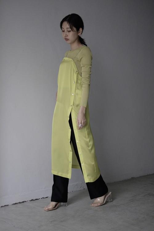 ROOM211 / Satin Organza Relax Dress (yellow)