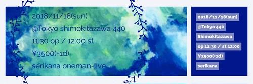 11/18(日) @東京 下北沢440 単独公演チケット