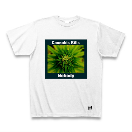 """Killing nobody"" 大麻 Tシャツ"