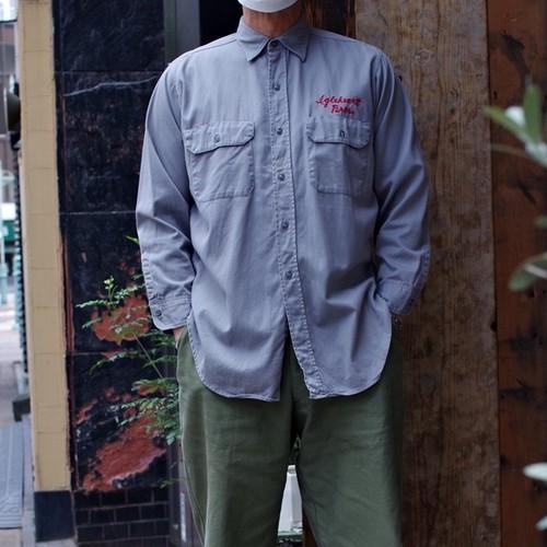 1950s Vintage Cotton Work Shirt / 50年代 マチ付き ワークシャツ