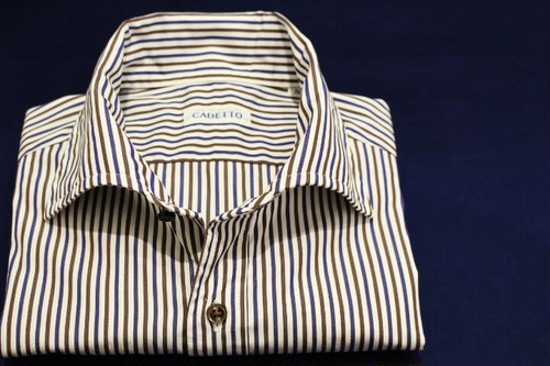 CADETTO ORIGINALS SHIRTS Azzurro e Marrone Stripe