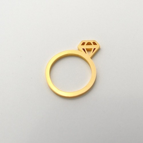 open works diamond ring/sv925+gold plated