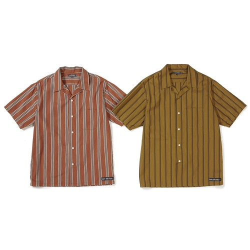 CAPTAINS HELM #Stripe O/C SS Shirts