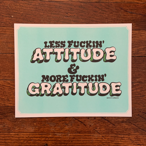 """Attitude Adjuster"" Print by Burrito Breath"