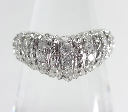 【SOLD OUT】0.52ct ダイヤ デザインハーフエタニティリング プラチナ ~【Super Good Condition】0.52ct Diamond Design Half Eternity Ring Platinum~