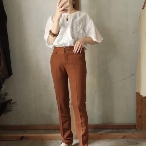 Terracotta skinny pants