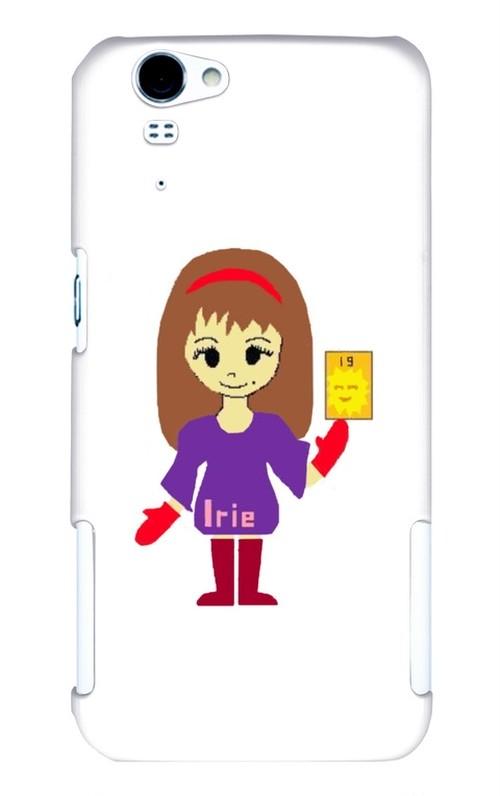 Irieキャラ魔除け手書き似顔絵スマホケース(AQUOS PHONE ZETA SH-01F)※他アバター画像は問い合わせ対応可