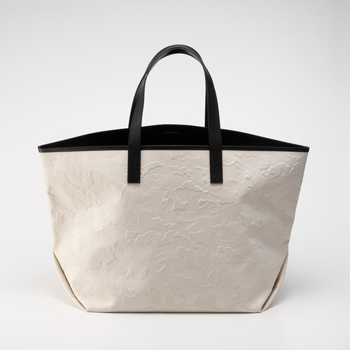 GENTIL BANDIT LABEL NOIR CANVAS TOTE GM OFF WHITE