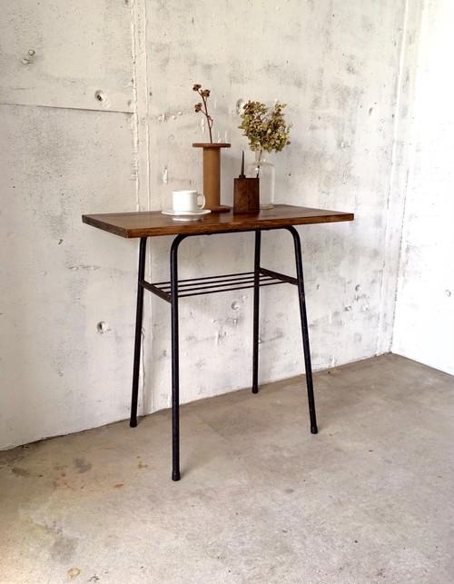 木味×アイアン脚のサイドテーブル[オリジナルリメイク]
