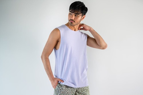 【6/3(wed)21:00販売開始】ThreeArrows Cut-off Sleeveless(lavender)