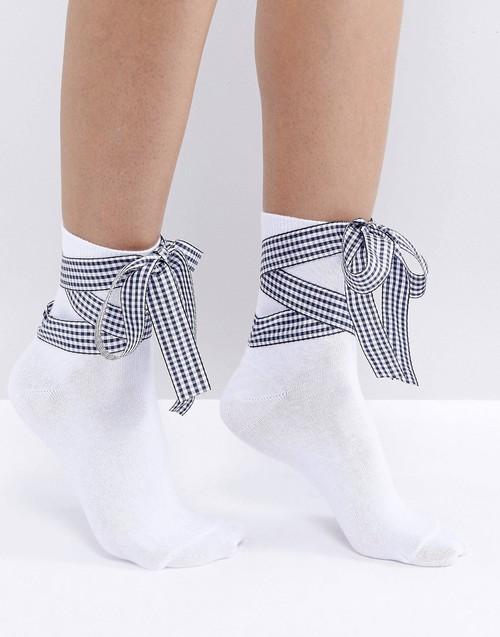 リボン靴下