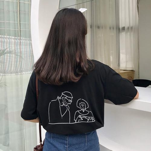【トップス】シンプルチャーミングカートゥーンヒップホップ半袖Tシャツ