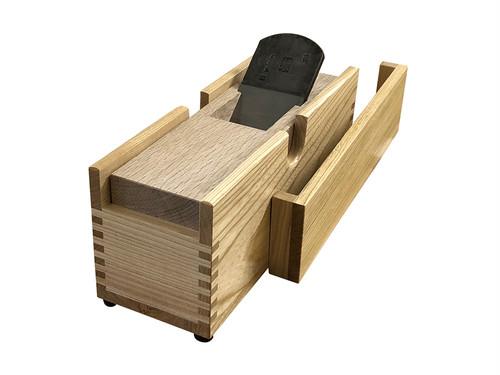 鰹節削り器 「業務用鰹箱(大)」 木づち・手ぬぐい付(shop限定セット)