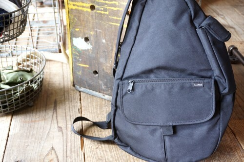 00's L.L.Bean black nylon healthy back Bag